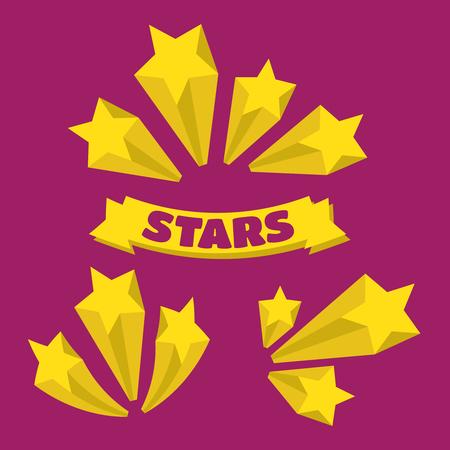 banger: Stars burst elements. Stars burst vector set Illustration
