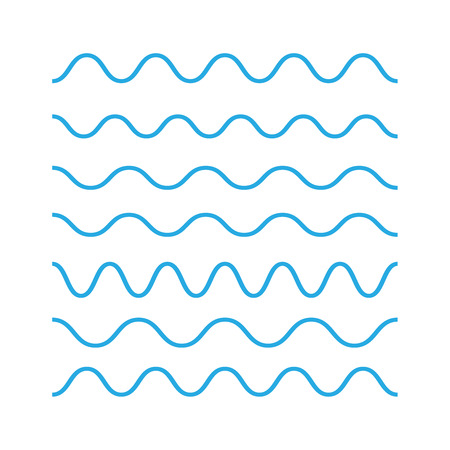 Waves outline icon, modern minimal flat design. Wave thin line symbol. Waves icons vector