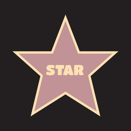 walk of fame: Walk of fame star with emblems symbolize five categories