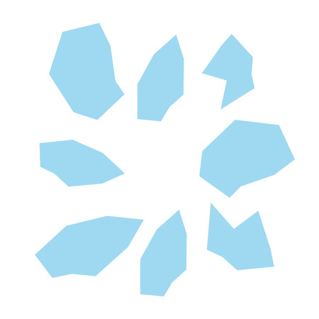 shards: Realistic transparent shards of broken glass. Broken glass vector Illustration