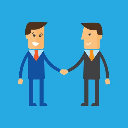 conformity: Businessmen shaking hands. Partnership concept illustration Illustration