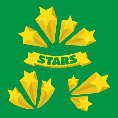 banger: Stars burst elements. stars burst on white background Illustration