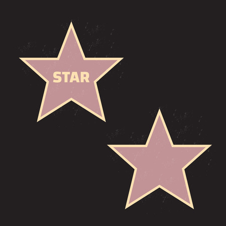 famous actor: Star hollywood vector eps 10 Illustration