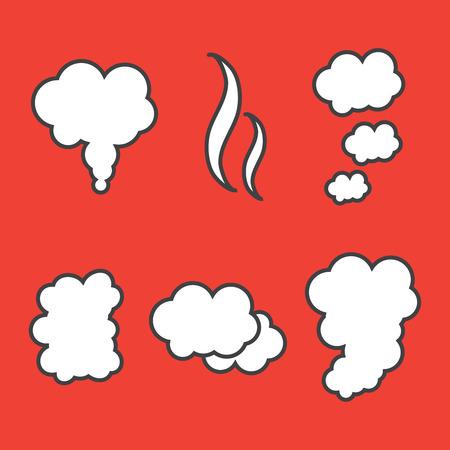 Explode animation. Cartoon smoke explosion. Explosion vector