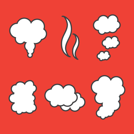 Explode animation. Cartoon smoke explosion. Explosion vector