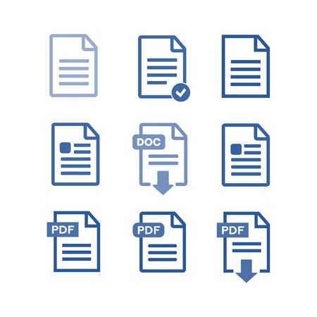PDF-Datei Download-Symbol. Datei-Vektor-Set Standard-Bild - 72888955