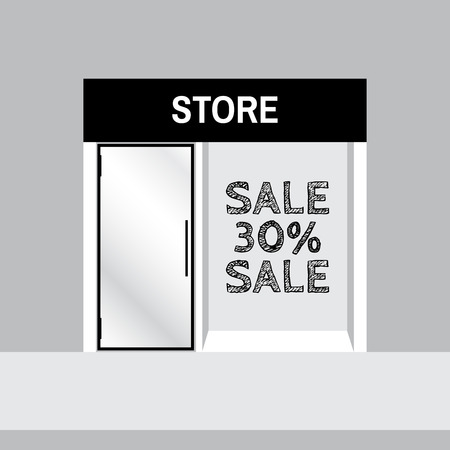 market place: Shop front or store view vector illustration. Shop front vector