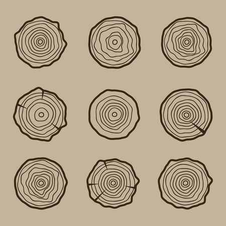 tree: Tree rings background and saw cut tree trunk Conceptual graphics