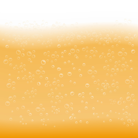 Beer texture with bubbles and foam. Beer background