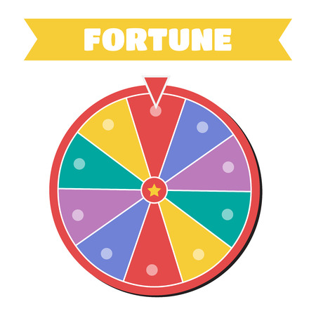 Wheel of fortune icon. Wheel of fortune sign