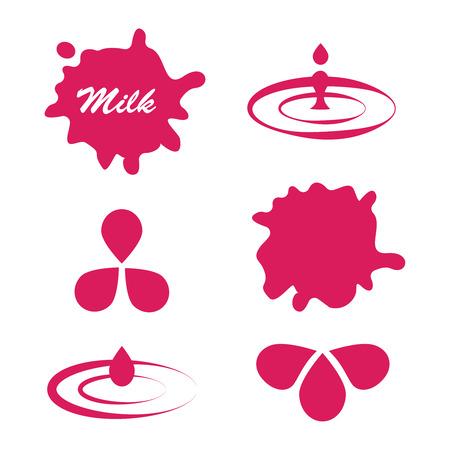 Milk and Labels Designs . Ilustração
