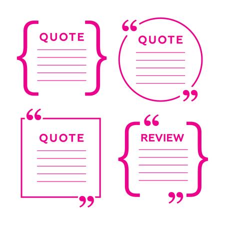 Quotes and brackets. Message typography, phrase and quotation
