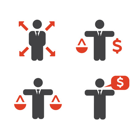 flexible business: Business Policies Icons. Business icons set