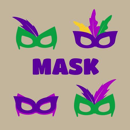 Mardi gras mask, vector mardi gras masks vector Illustration
