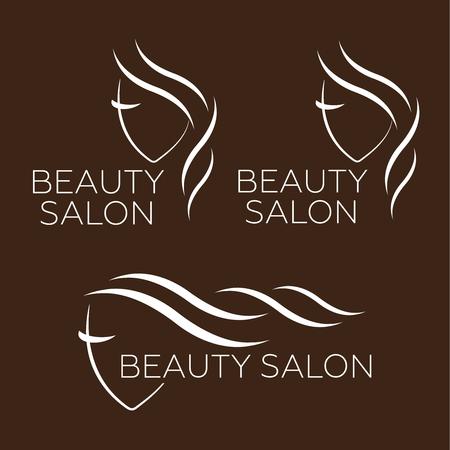 hospice: Beautiful woman vector logo template for hair salon Illustration