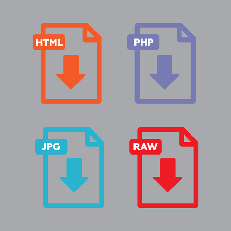 File download icon. Document text, symbol  Document information. File download vector Illustration