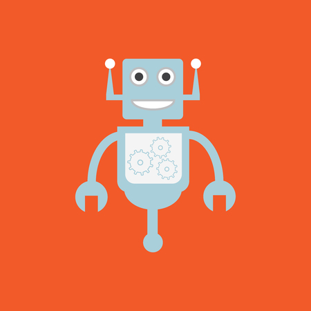 Robot icon vector. Artificial intelligence elements AI vector Illustration