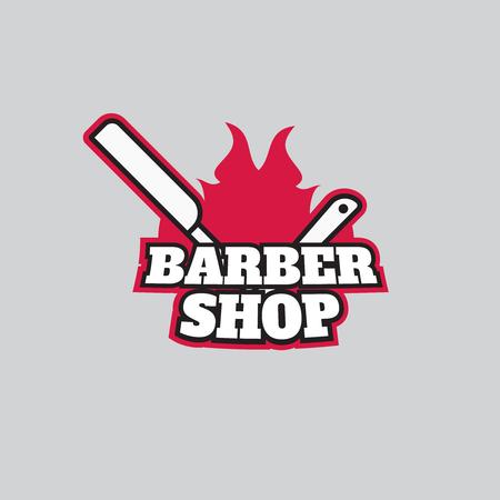 barber shop: Retro barber shop logo vector