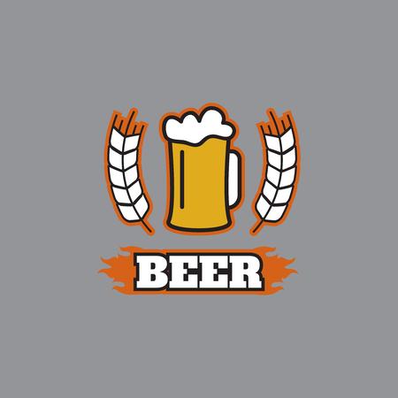 Vintage beer emblems, labels, badges Beer vintage logo Illustration