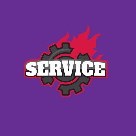 Services logo templates. Car services logo sign
