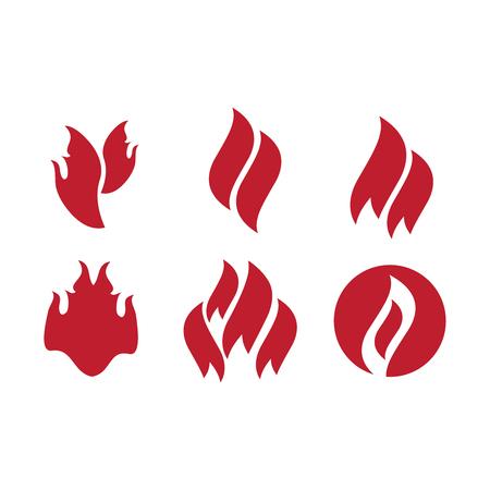 Fire tattoo . Fire flames tattoo set