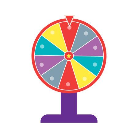 Wheel of fortune flat design Illusztráció
