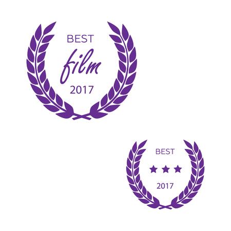 actress: Set of awards for best vector illustrator Illustration