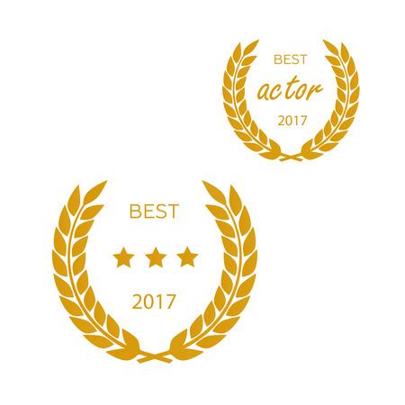 famous actor: Set of awards for best vector illustrator Illustration