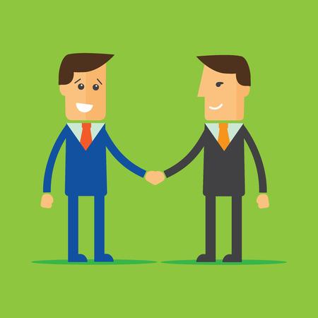 conformity: Businessmen shaking hands. Partnership concept vector illustration Illustration
