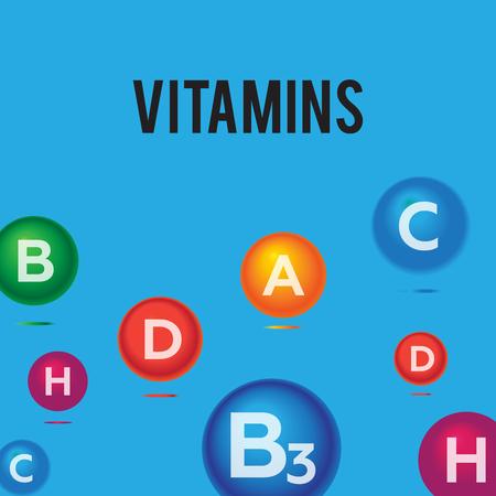 medica: Vitamins health medica background vector vector Illustration