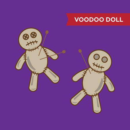 spook: Halloween voodoo doll vector Illustration