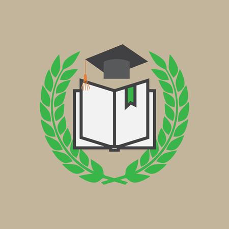 Education concept with mortarboard vector vector Illustration