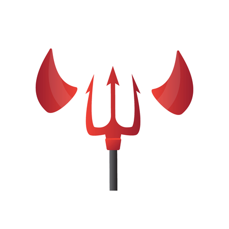 Devil Horns Vector Halloween Evil Horns Sign Icon Isolated