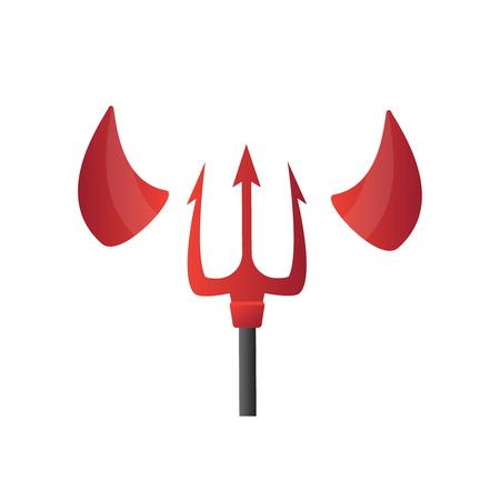 Red and black devil horns. Horn evil, demon horn