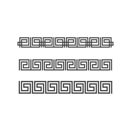 Seamless greek pattern set Illustration