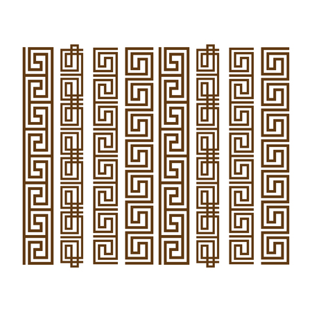 hercules: Greek ornament. Greek design ornament set Illustration