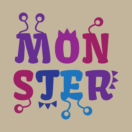 bacteria cartoon: Halloween black monster silhouettes.Monsters of set for hallowee Illustration