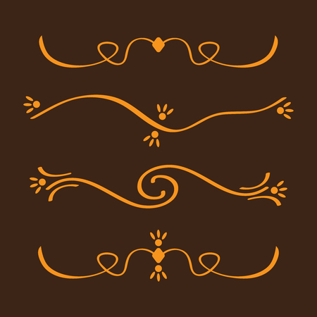 Flourish vector embellishments. Flourishes filigree calligraphic