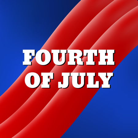 united stated: Fourth of July, United Stated independence day Illustration