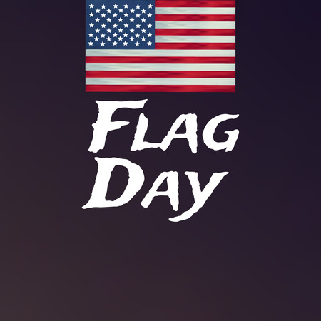Happy flag day vector background. Happy flag day badge. Vectores