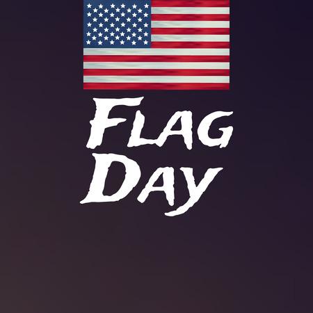 Fondo feliz del vector del día de la bandera. Feliz día del indicador de bandera.