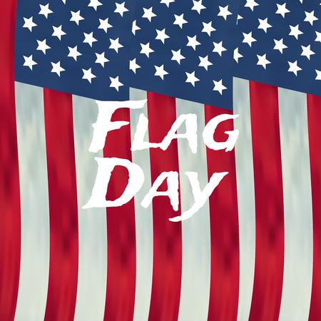 Fondo de vector de feliz día de la bandera. Insignia del día de la bandera feliz.