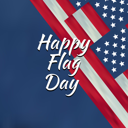 Set of color independence day. Happy flag day vector background. Happy flag day badge.