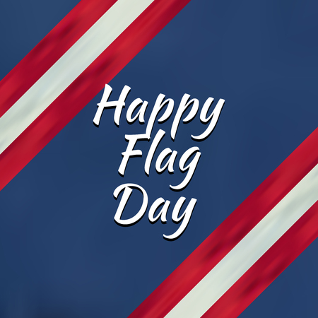Flag Day background template Vector illustration. Illustration