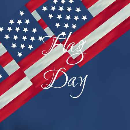 Independence Day Design Happy flag day vector background. Happy flag day badge.