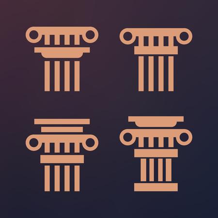 roman column: Ancient vector architecture roman greek pedestal column Illustration