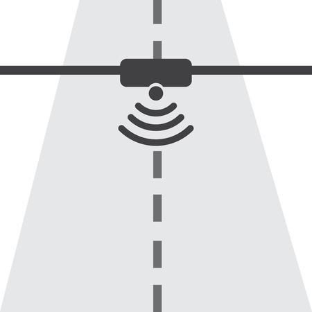 Highway communication system infographics Illustration