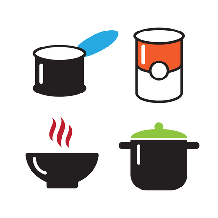 Cans food,canned goods icons Illustration