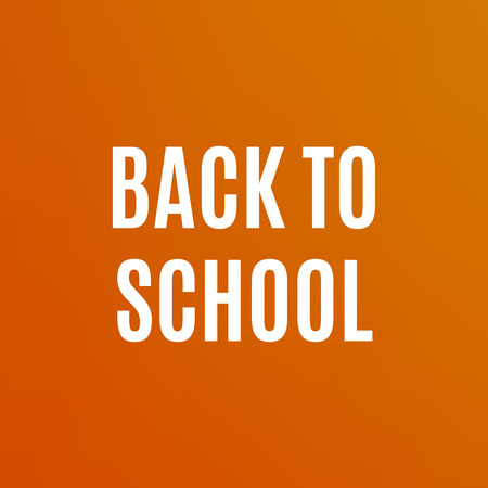orthography: Back to School poster design. Education background. Back to school vector Illustration