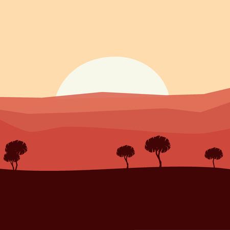 Desert mountains sandstone background. Mountains vector art